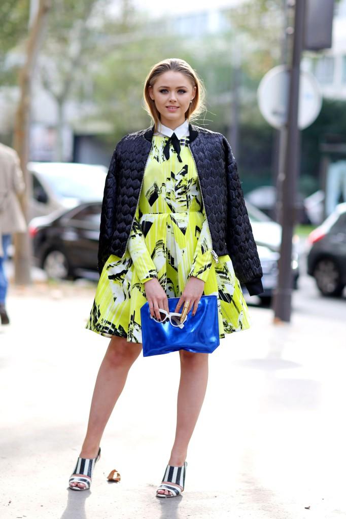Street Style, Spring Summer 2015, Paris Fashion Week, France - 28 Sep 2014