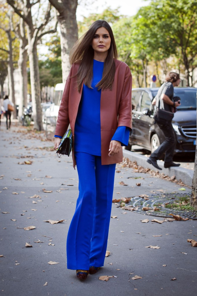 Street Style, Spring Summer 2015, Paris Fashion Week, France - 28 Sep 2014