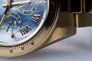A gold wrist watch