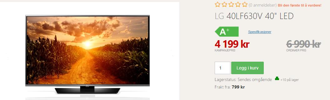 LG TV tilbud 40