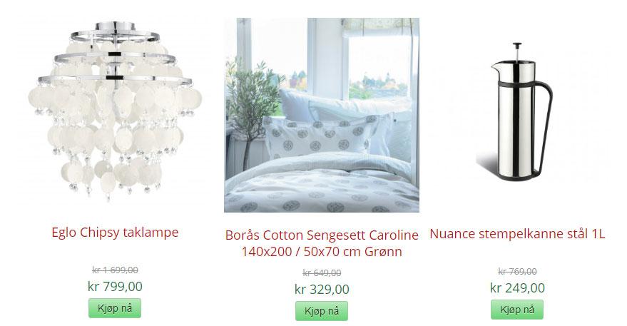 bdc74e44 Danske Glass og Interiør er i gang med salget, så trenger du en preskanne,  et lekkert sengesett eller en lampe…